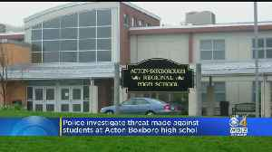 Police Investigate Threat Made Against Students At Acton-Boxboro High School [Video]