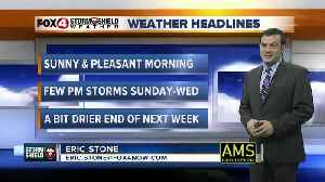 Forecast: Sunday morning will be pleasant with a few storms during the afternoon and evening. [Video]