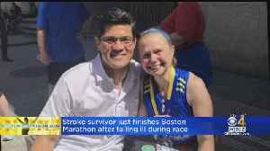 A Month After Boston Marathon, A Determined Woman Crosses The Finish Line [Video]