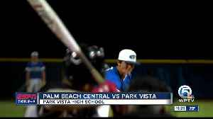 Palm Beach Central vs Park Vista baseball [Video]