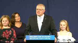 Australia PM Scott Morrison returns after tight election [Video]