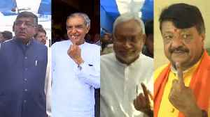 Nitish Kumar, Ravi Shankar Prasad, others cast vote during final phase [Video]