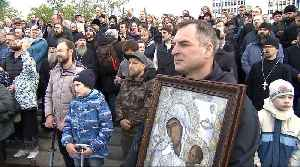 Russia's cathedral construction put on hold after protests [Video]