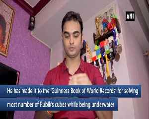 20-year-old Mumbaiker creates Guinness record in underwater cubing [Video]