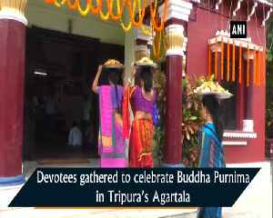 Devotees offer prayers on Buddha Purnima in Tripura's Agartala [Video]