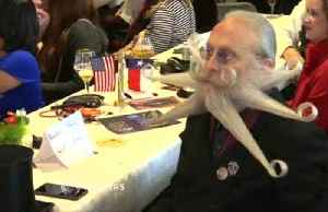 Winning by a whisker: moustache and beard fans compete in World Championship [Video]