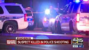Suspect killed in police shooting [Video]