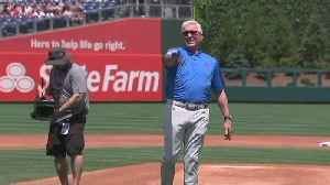 Phillie Legend Mike Schmidt Throw First Pitch For Melanoma Awareness Day [Video]
