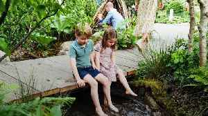 George, Charlotte and Louis visit mother Kate's Chelsea Flower Show garden [Video]
