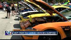 Boy fighting cancer gets surprise car show held in his honor [Video]