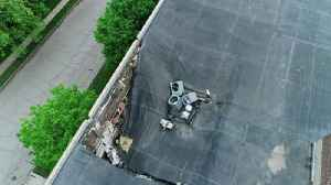 Drone video: Major damage to Mason City's Mohawk Square [Video]