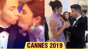 Cannes 2019 | Priyanka Chopra Nick Jonas ADORABLE KISS, Nick Jonas ADJUST Priyanka's Dress [Video]