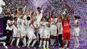 Olympique Lyonnais welcomed home after 6th Women's Champions League win [Video]