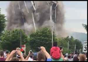 Onlookers Gather as Bethlehem's Martin Tower Comes Down [Video]