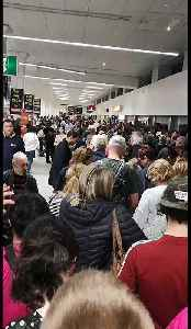 Huge Crowds Fill Manchester Airport as Dozens of Flights Cancelled Due to Fuel Supply Problem [Video]