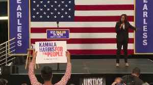 Kamala Harris talks gender pay gap at LA rally [Video]