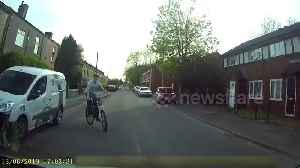 'He nearly died!' Young cyclist has lucky escape due to UK driver's great reflexes [Video]