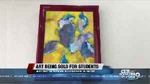 Artwork by council member's late mother going to student scholarships [Video]