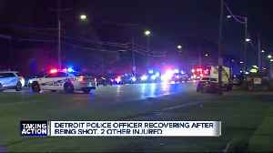 Detroit police officer recovering after being shot, 2 others injured [Video]