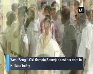 CM Mamata Banerjee casts her vote in Kolkata [Video]