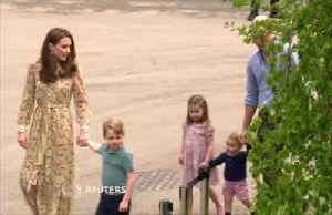 Britain's Duchess Kate lets royal children loose at her Chelsea Flower Show garden