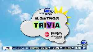 Weather trivia: Average date of last snow in Denver [Video]