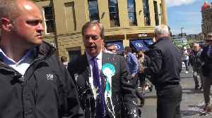 Nigel Farage milkshaked in Newcastle [Video]