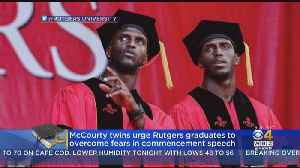 McCourty Twins Urge Rutgers Graduates To Overcome Fears In Commencement Speech [Video]