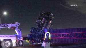 Big-rig crash on 5 Freeway closes lanes in East L.A. for more than 3 hours [Video]