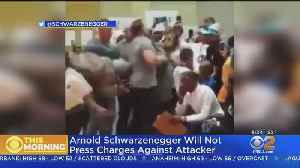 Arnold Schwarzenegger Won't Press Charges Against Kicker [Video]