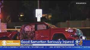 Good Samaritan Seriously Hurt While Trying To Help Motorcyclist In Fatal Crash [Video]