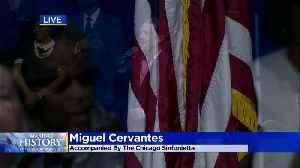 Chicago Hamilton's Miguel Cervantes Sings National Anthem At Inauguration [Video]