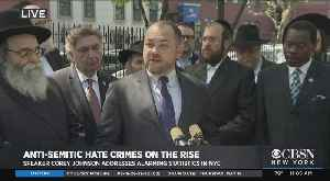 Web Extra: Corey Johnson Condemns Anti-Semitic Hate Crimes [Video]