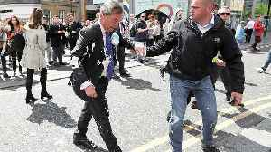 Nigel Farage doused in milkshake on the campaign trail [Video]
