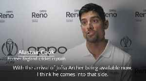 Alastair Cook on Jofra Archer: He's in my squad [Video]