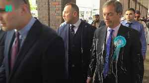 Right-Wing Politicians In The UK Are Being Pelted With Milkshakes [Video]