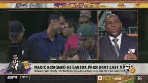 News video: Lakers Introduce New Coach Frank Vogel; Magic Accuses Pelinka Of 'Betrayal'