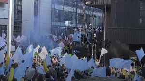 Manchester City players celebrate season with trophy parade [Video]
