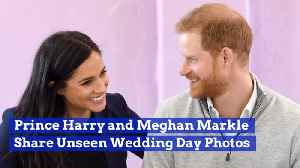 News video: Prince Harry And Duchess Meghan Share Wedding Pics