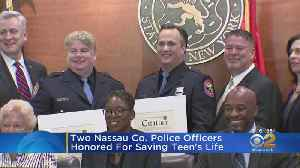 Two Nassau Co. Police Officers Honored For Saving Teen's Life [Video]