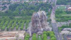 Martin Tower implosion view from the sky (slow motion) [Video]