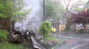 VIDEO Lightning strike causes fire in Carbon County [Video]