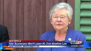 Ivey: Businesses Won't Leave AL Over Abortion Law [Video]