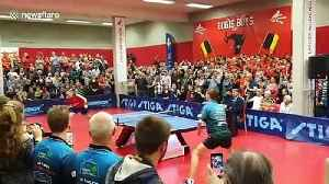 Fans erupt as Belgian table tennis legend scores final point before retiring [Video]