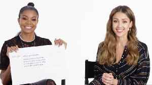 Jessica Alba & Gabrielle Union Answer the Web's Most Searched Questions [Video]