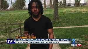Innocent bystander speaks out from hospital about being shot [Video]