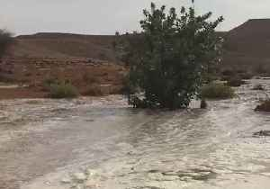 Floodwaters Rush Through Valley After Heavy Rainfall in Saudi Arabia [Video]