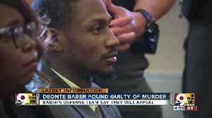 Deonte Baber found guilty of murder [Video]