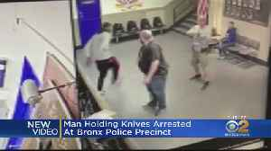Man Holding Knives Arrested At Bronx Police Precinct [Video]
