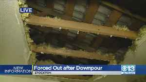 Stockton Apartment Residents Forced Out After Downpour [Video]